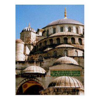 blue mosque camii postcard