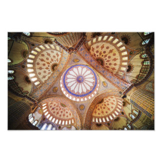 Blue Mosque Ceiling in Istanbul Photographic Print
