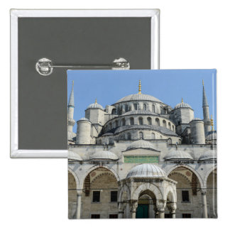 Blue Mosque in Istanbul Turkey Button