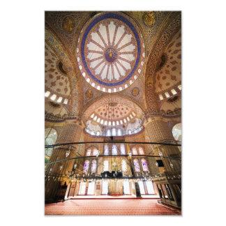 Blue Mosque Interior Architecture Art Photo