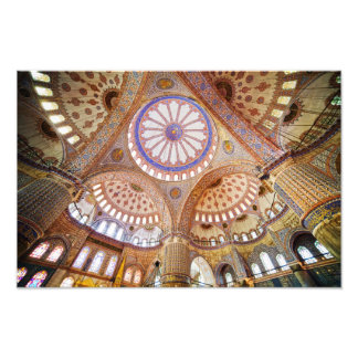 Blue Mosque Interior in Istanbul Photograph