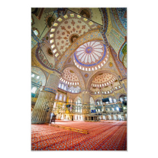 Blue Mosque Interior in Istanbul Photo Art