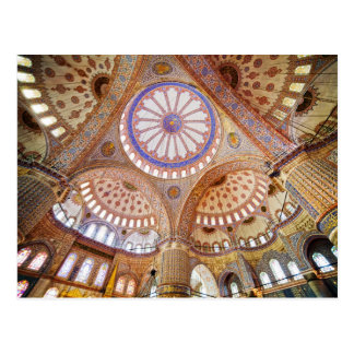 Blue Mosque Interior in Istanbul Postcard