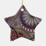 Blue Mosque Istanbul Double-Sided Star Ceramic Christmas Ornament