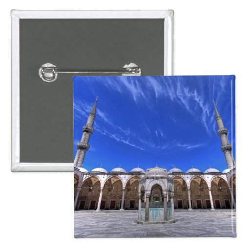Blue Mosque, Istanbul, Turkey 2 Inch Square Button