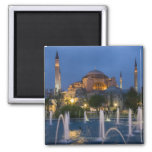 Blue mosque, Istanbul, Turkey 2 Inch Square Magnet