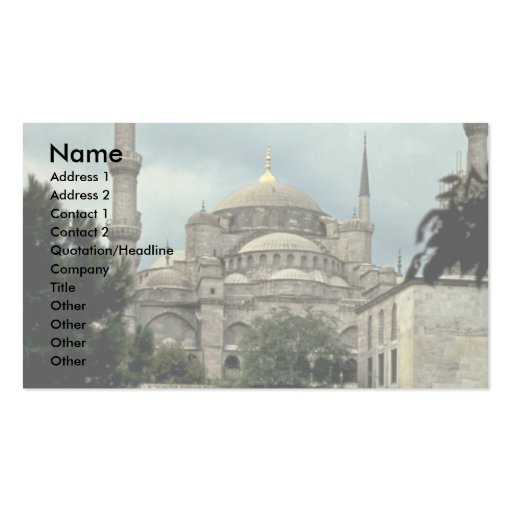 Blue Mosque, Istanbul, Turkey Business Card