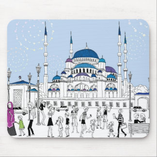 Blue Mosque Mouse Pad