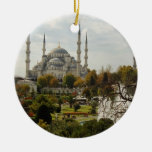 Blue Mosque Double-Sided Ceramic Round Christmas Ornament