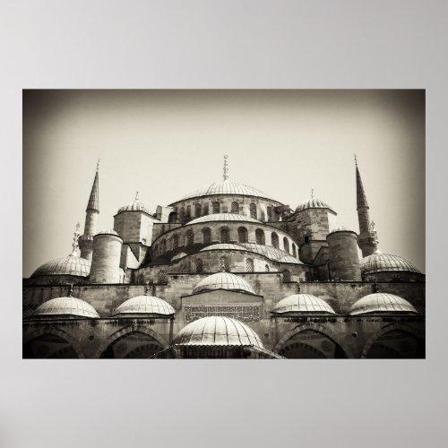 Blue Mosque (sepia) Poster