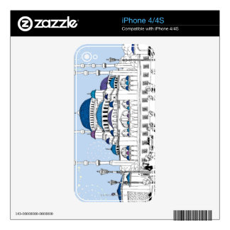 Blue Mosque Skin For The iPhone 4