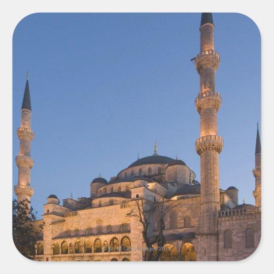 Blue Mosque, Sultanhamet Area, Istanbul, Turkey 2 Square Sticker