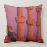Blue Mosque Throw Pillows