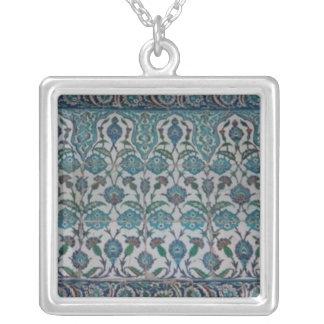 Blue Mosque Tile necklace