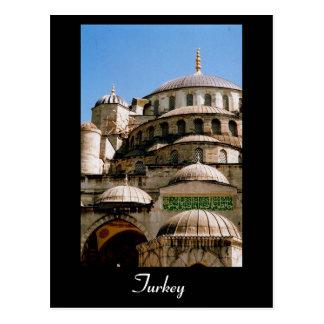 blue mosque turkey postcard