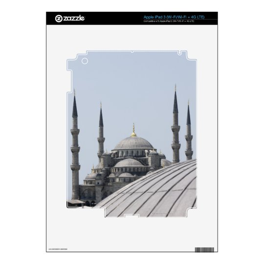Blue Mosque with the curve of the main dome iPad 3 Decal