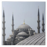 Blue Mosque with the curve of the main dome Large Square Tile