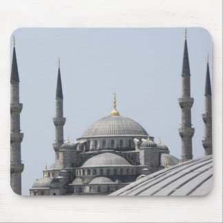 Blue Mosque with the curve of the main dome Mouse Pad