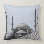Blue Mosque with the curve of the main dome Pillows