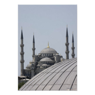 Blue Mosque with the curve of the main dome Poster