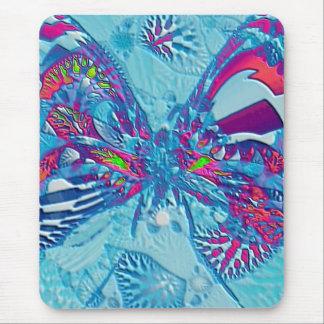 Blue Moth Mouse Pad