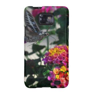 Blue Moth on Flower Samsung Galaxy SII Cover