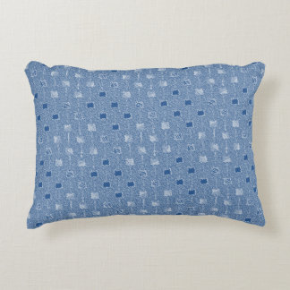 blue mother-of-pearl accent pillows