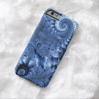 BLUE MOTHER OF PEARL FRACTAL BARELY THERE iPhone 6 CASE