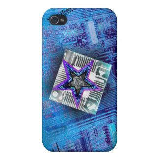 Blue Motherboard Star Chip Case For iPhone 4