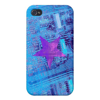 Blue Motherboard Star iPhone 4 Case