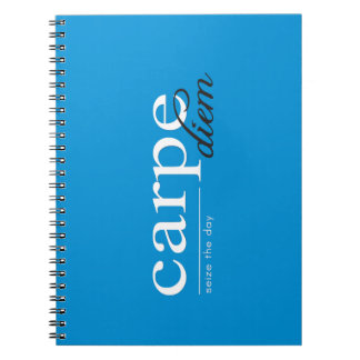 Blue Motivational Inspirational Quote Spiral Note Book