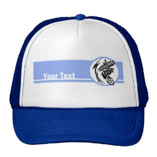 Blue Motocross; Dirt Bike Trucker Hat
