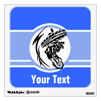 Blue Motocross; Dirt Bike Wall Sticker