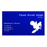 Blue Motocross Whip Business Card