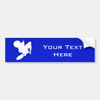 Blue Motocross Whip Car Bumper Sticker
