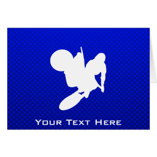 Blue Motocross Whip Card