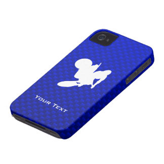 Blue Motocross Whip iPhone 4 Case-Mate Case
