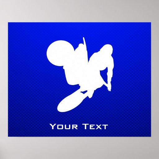 Blue Motocross Whip Print