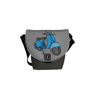 Blue Motor Scooter Messenger Bag