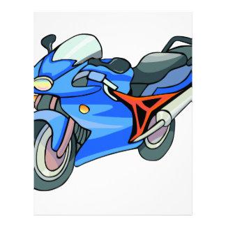 Blue Motorcycle Letterhead