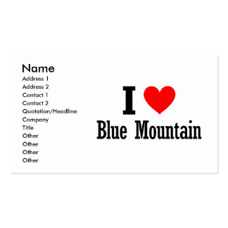 Blue Mountain, Alabama City Design Double-Sided Standard Business Cards (Pack Of 100)
