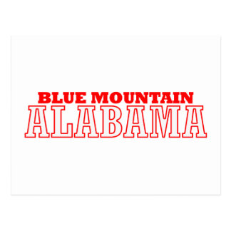 Blue Mountain, Alabama City Design Postcard
