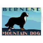 Blue Mountain Bernese Dog Card