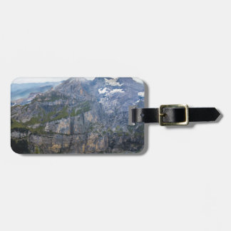 Blue mountain lake  oeschinen pond in nature bag tag