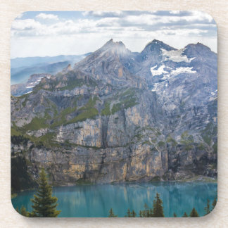 Blue mountain lake  oeschinen pond in nature coaster