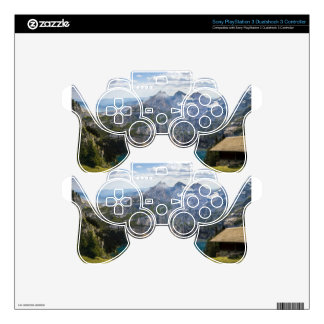 Blue mountain lake  oeschinen pond in nature decal for PS3 controller