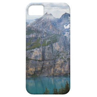 Blue mountain lake  oeschinen pond in nature iPhone SE/5/5s case