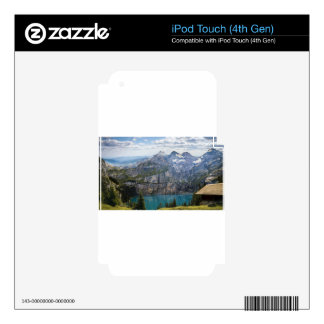Blue mountain lake  oeschinen pond in nature iPod touch 4G decals