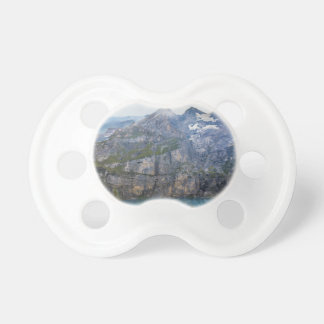 Blue mountain lake  oeschinen pond in nature pacifier