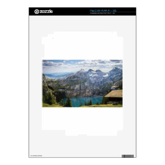 Blue mountain lake  oeschinen pond in nature skin for the iPad 2